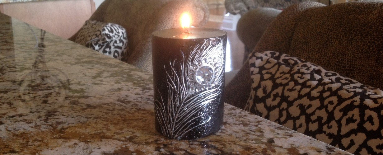 Peacock Candle